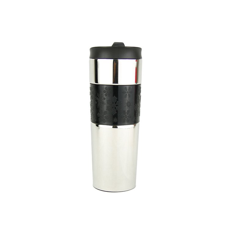 Bianco Rosso Colore Nero 500 Ml Durevole Caffè di Vuoto Termico Tazza di Viaggio