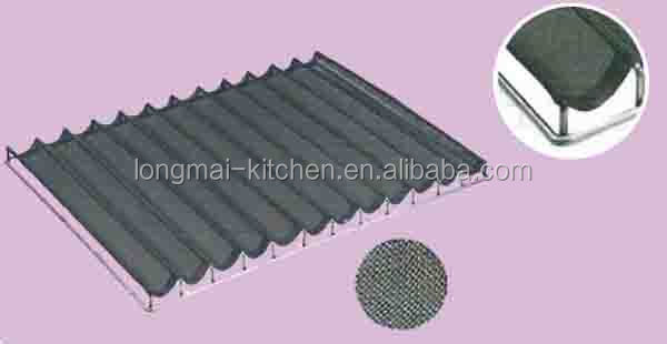 LM-BT15/2016 Venta caliente 12 ranura recubierta de teflón de aluminio baguette mejor para hornear pan sartenes