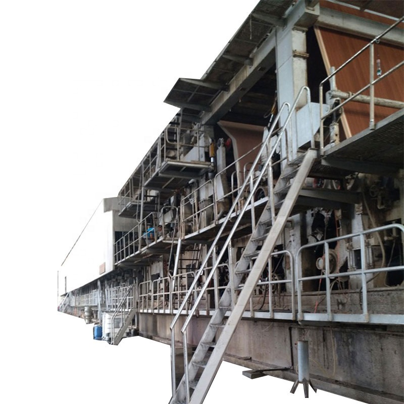Hot sale 3600mm double wire fourdrinier type duplex kraft paper machine line fluting paper machinery