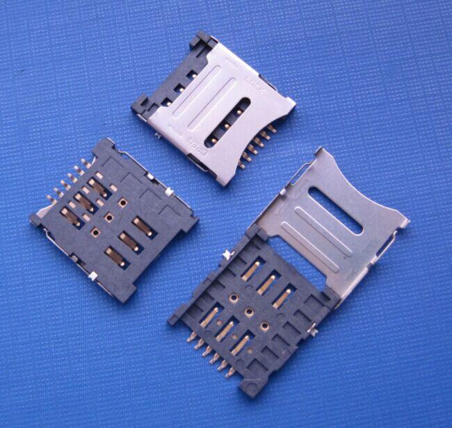 tipo de dobradiça do conector microSIM