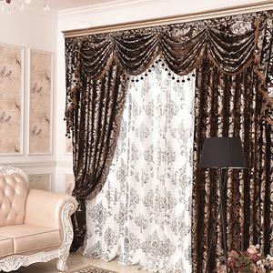 Сделано в Китае бархатные занавески из ткани Rideaux Bronzing, для дома, занавески для гостиной с Valance Rideaux Voilage