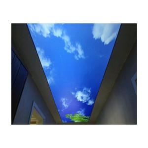 Listo pvc película elástica cielo azul azulejos para restaurante