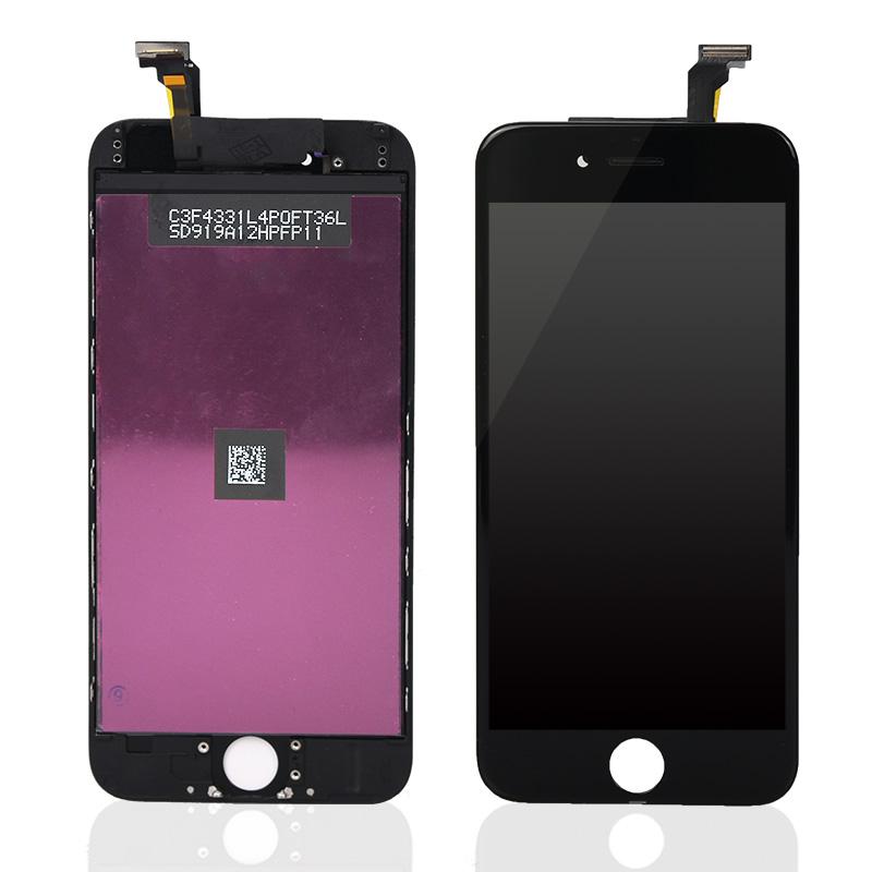 SAEF Màn Hình Ban Đầu cho Iphone 6 Lcd Hiển Thị Màu Đen 4.7 ''LCD đối với Iphone 6 Màn Hình Thay Thế với Digitizer