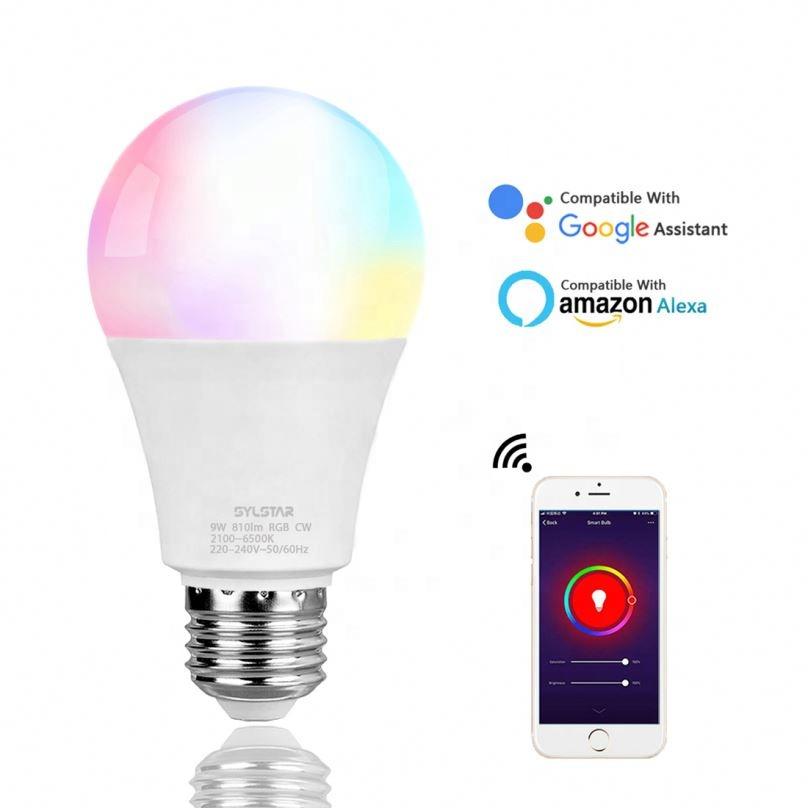 Senza fili di controllo 9W e27 A60/A19 dimmable lampadina intelligente luci lifx ha condotto la luce di lavoro con ALEXA