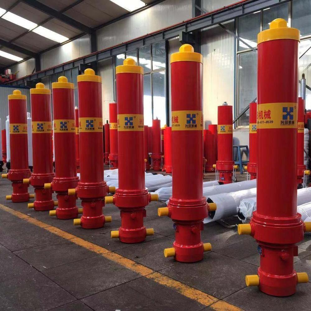 Les fabricants ont Personnalisé le Terrassement Hydraulique frontal Ram vérins ISO Certifié pour camion à benne basculante