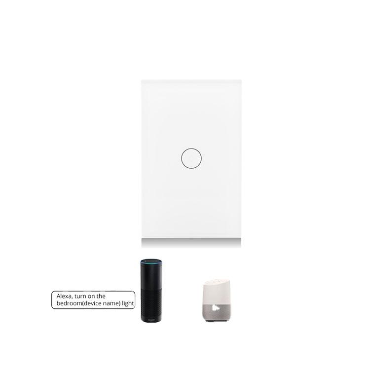 方法WifiスイッチTuyaアプリによる標準的なクリスタルガラスパネルの壁スイッチワイヤレス制御