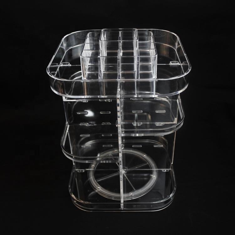 Fábrica Atacado 360 Acrílico Maquiagem Cosméticos Organizador com mini conjunto de contêiner de batom