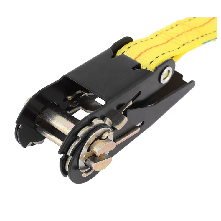 Heavy duty ratchet tie down designed to hold loads on trucks