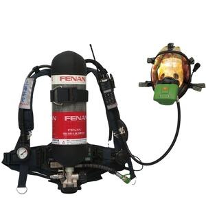 Yangın söndürme güvenliği scba hava solunum cihazı ile 6.8L gaz silindiri