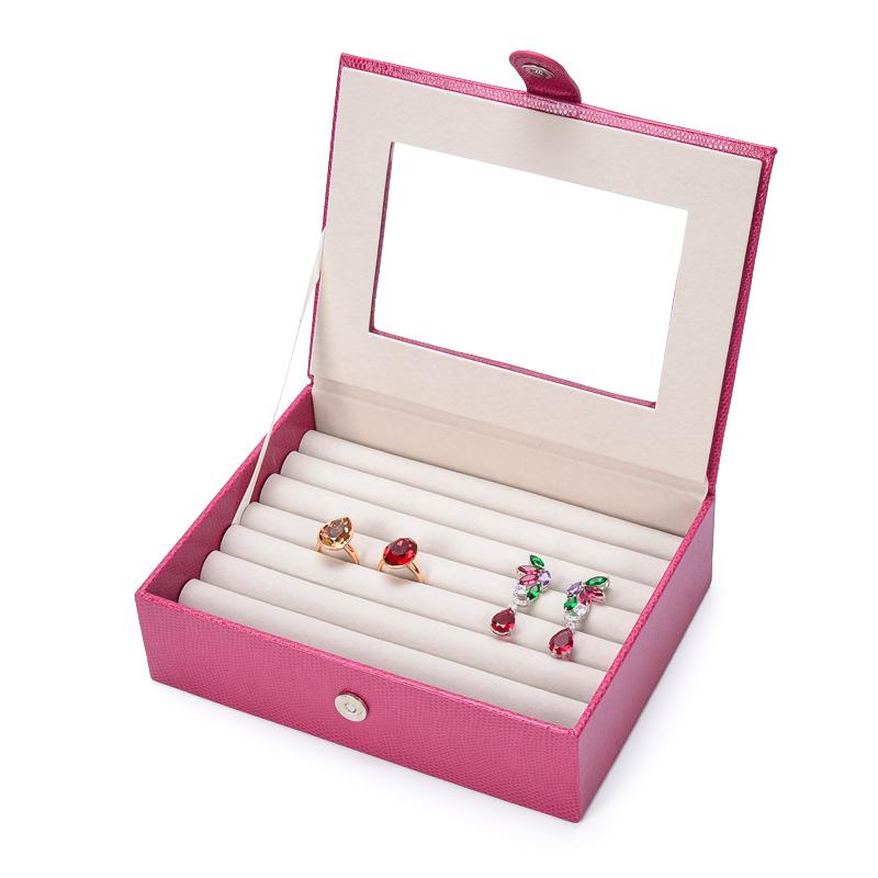 Al por mayor cuero de la pu de la joyería, organizador caso anillos pendiente de la joyería, bandeja