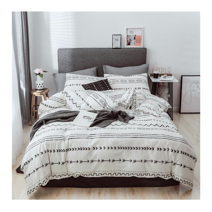 3d conjuntos de cama 100% algodão tecido lençol com fronha