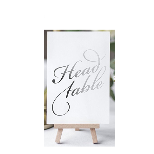 Tuỳ chỉnh thư pháp thẻ bảng cho đám cưới/bảng số lá vàng dập đám cưới thẻ