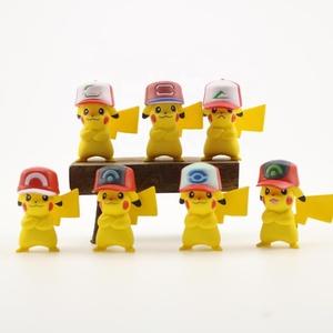 7 adet/takım sevimli mini hayvan karikatür PVC şekil anime aksiyon figürü pikachu bebek özel plastik oyuncak şekil