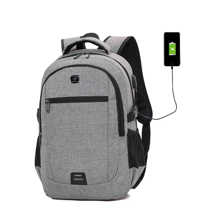 卸売カスタムロゴユニセックス USB 充電バックパックバッグ黒ハード旅行ラップトップ bagpack のバックパック