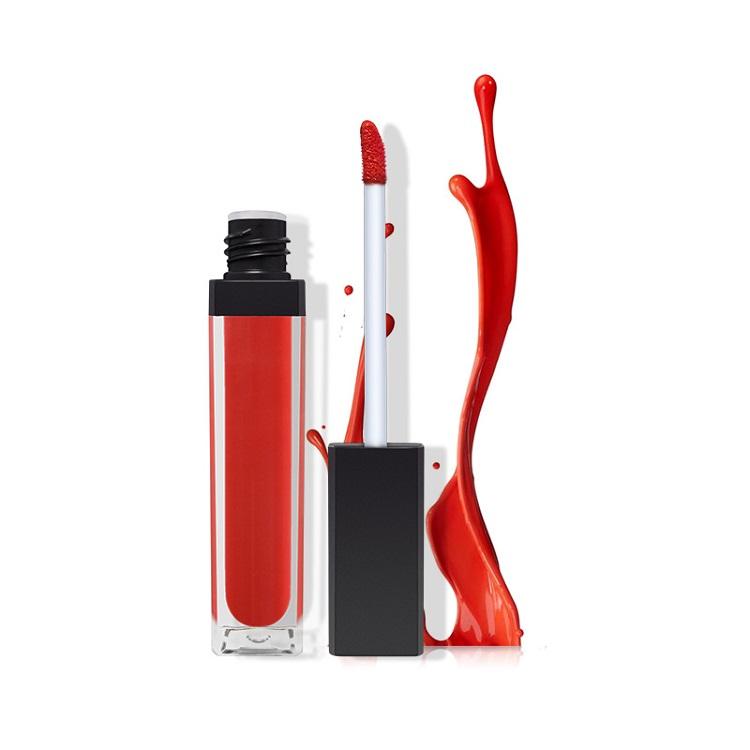 Benutzerdefinierte Private Label Logo Cruelty Free Matte Nette Dark Rot Flüssigkeit Mode Farbe Fda Genehmigt Lippenstift