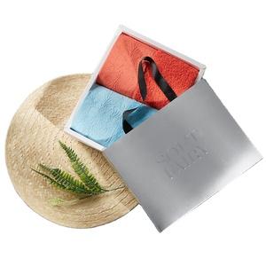 Rouge Premier Gift-emballé Société Festival Présent Peigné Coton Rouleau D'essuie-Mains en Coton