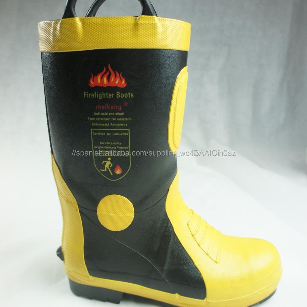 Zapatos de bombero estándar con botas de fuego EN con puntera de acero