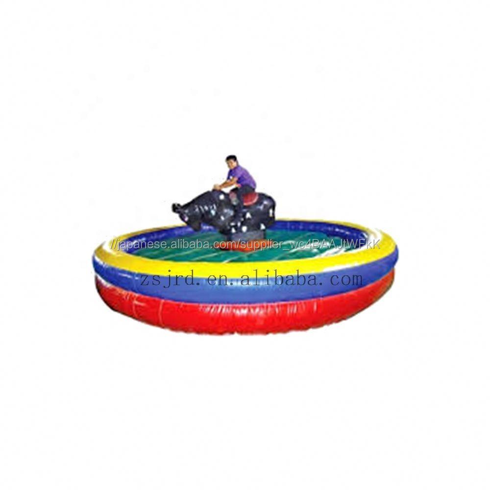 Kids inflatable certified manufacturer bullfight ride backyard rodeo bull indoor crazy games bull fight amusement ride