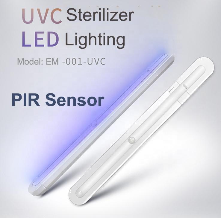 Ánh Sáng Khử Trùng Dual-Sử Dụng Di Động UVC Đèn Khử Trùng Tia Cực Tím LED UV Diệt Khuẩn Đèn