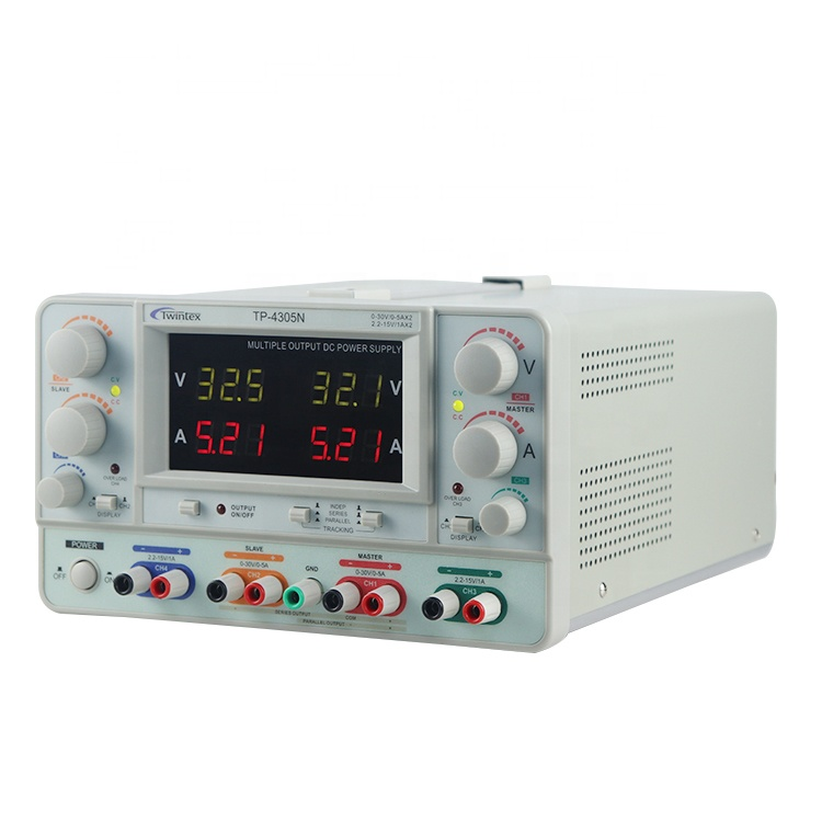 Twintex TP-4305N Quad salida 30V 5A 4-CH Tipo Banco lineal regulada DC fuente de alimentación ajustable
