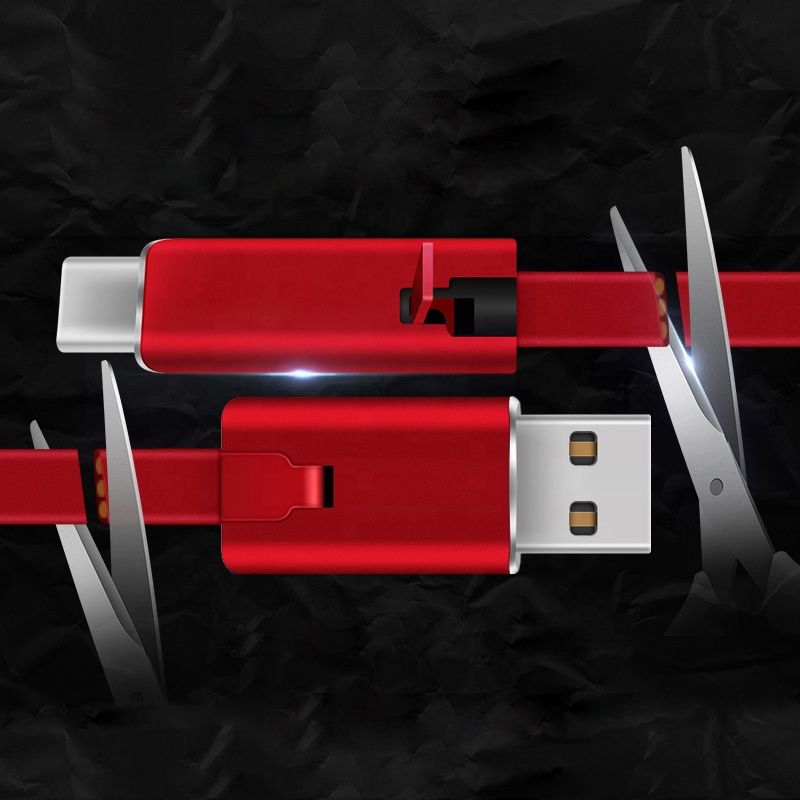 A4 و اجهزة الاندرويد, كابل USB C & micro USB كابل شحن ذو نهايه مزدوجه قابل للتجديد و اعادة الاصلاح لاجهزة الايفون