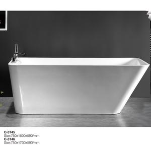 GF-3145/3146 hydro-Relájate independiente 57 pulgadas bañera pintura acrílico de clawfoot bañera rojo