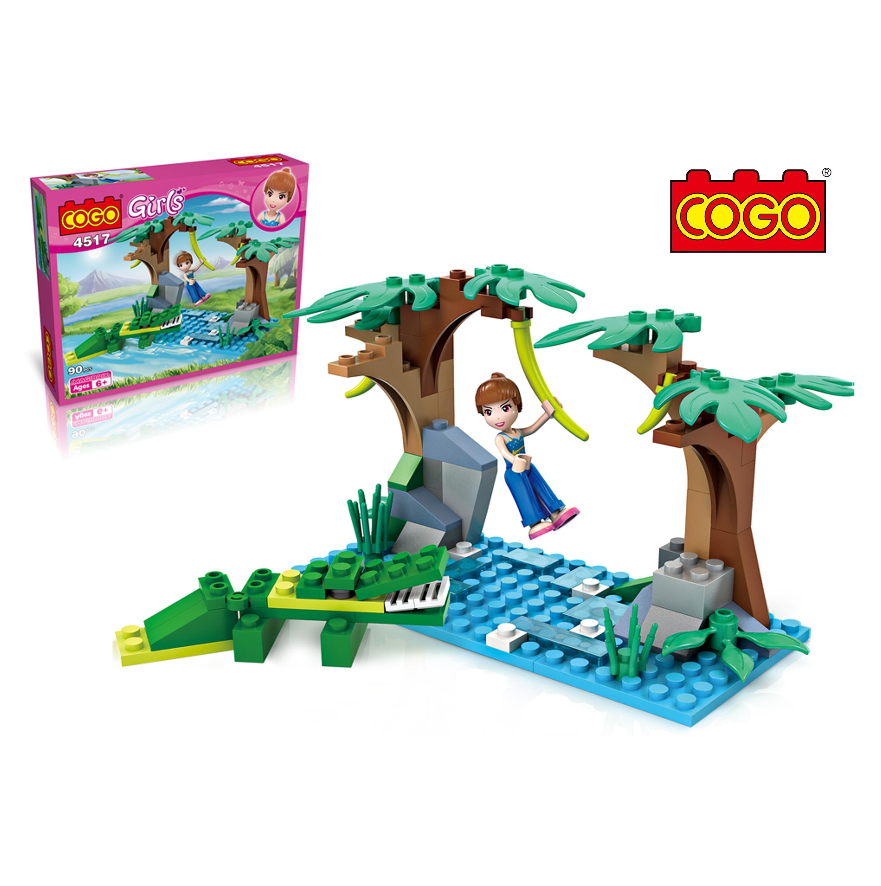 مكعبات بناء صغيرة الحجم من COGO field adventure التمساح للأطفال يلعبون