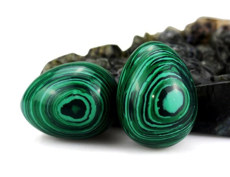 Hot bán buôn khắc đá quý malachite trứng Giáng Sinh/quà tặng Kinh Doanh