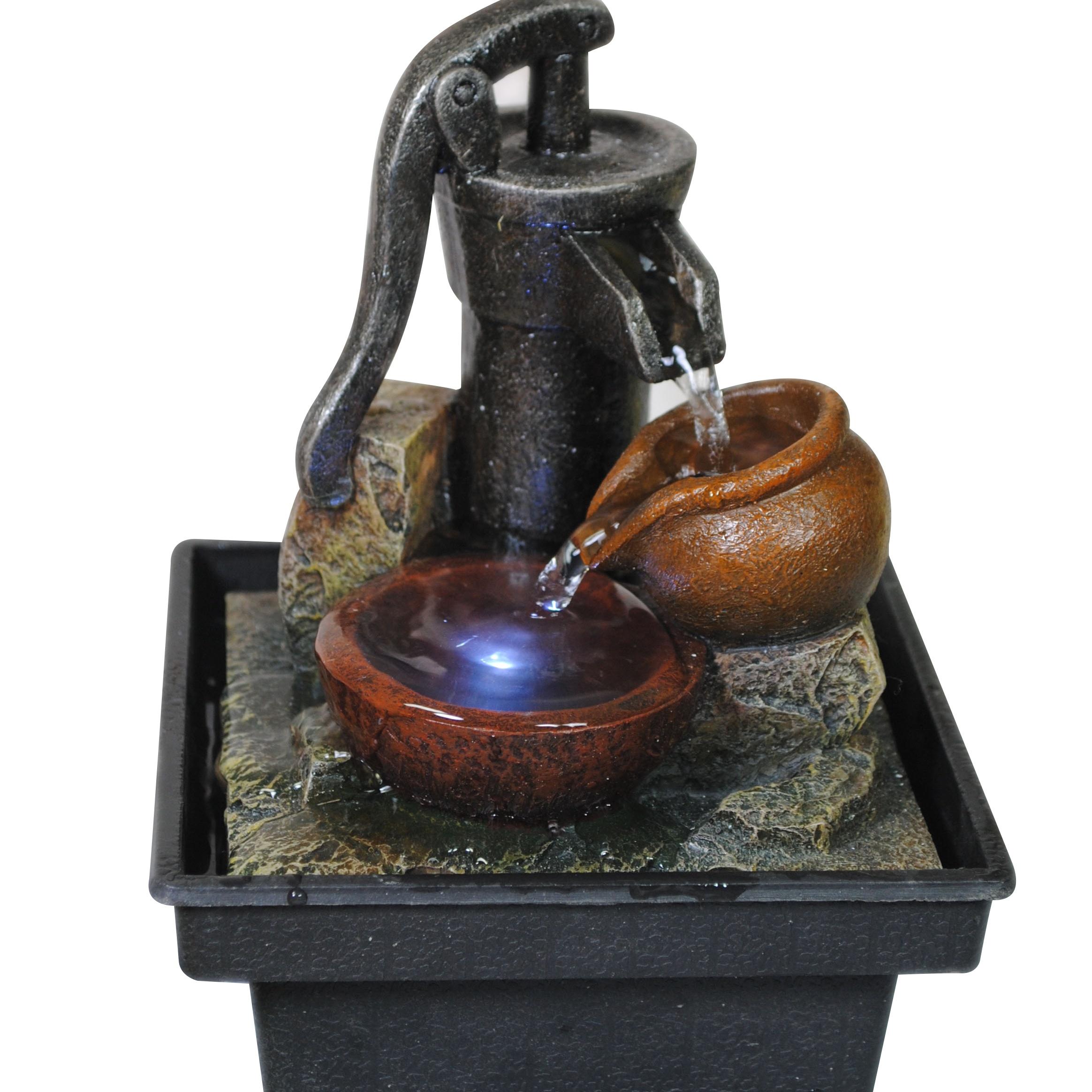 Декоративные элементы для гостиной фонтан с водяным шаром украшение дома со светодиодной подсветкой