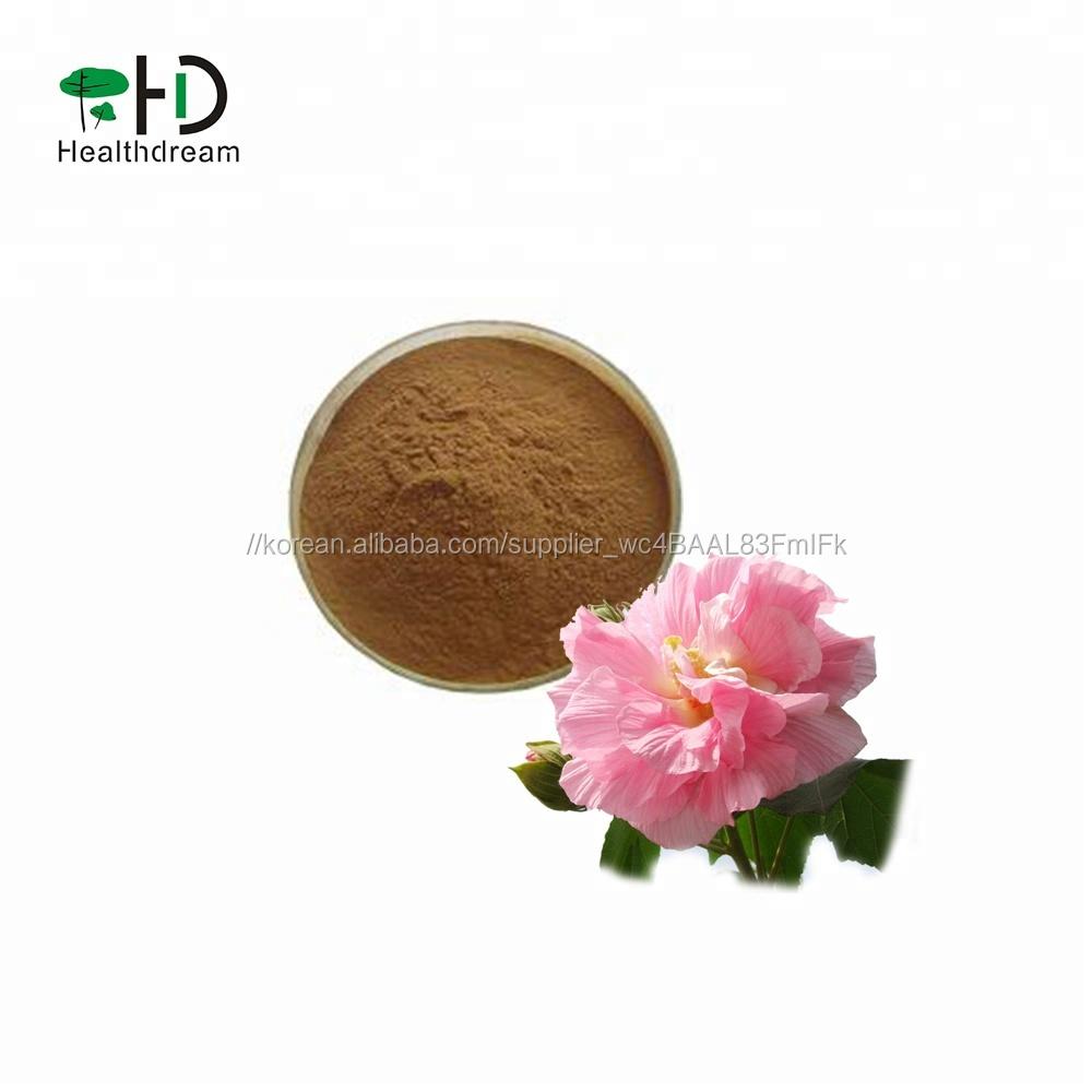 (High) 저 (Quality Natural 히 비 스커 스 꽃 추출물 분말 10:1, 20:1, 나무 lotus, 히 비 스커 스 mutabilis L.