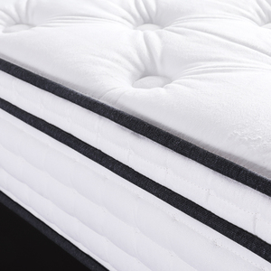 New product in china white cotton felt queen size bed pocket spring mattresses of latex and foam price