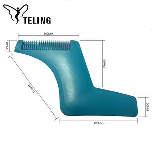 OEM 2019 수염 스타일링 및 쉐이핑 템플릿 빗 도구 고품질 및 큰 디자인