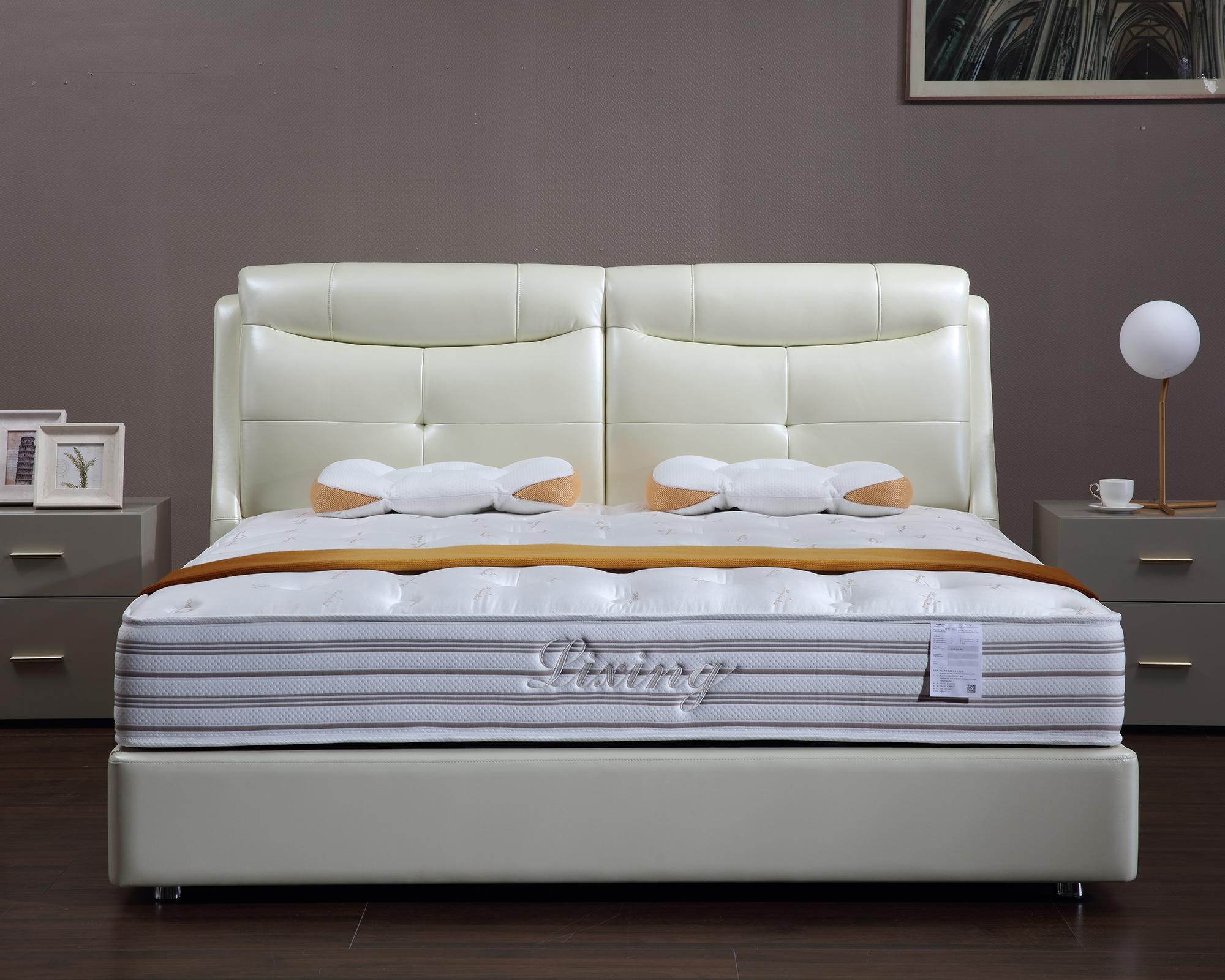 홈 가구 현대 정품 가죽 침대 upholstered 침대 높은 머리판