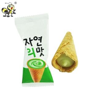 Eingesackt Koreanische Schokolade Grün Tee Erdbeere Geschmack Eis Cracker Keks