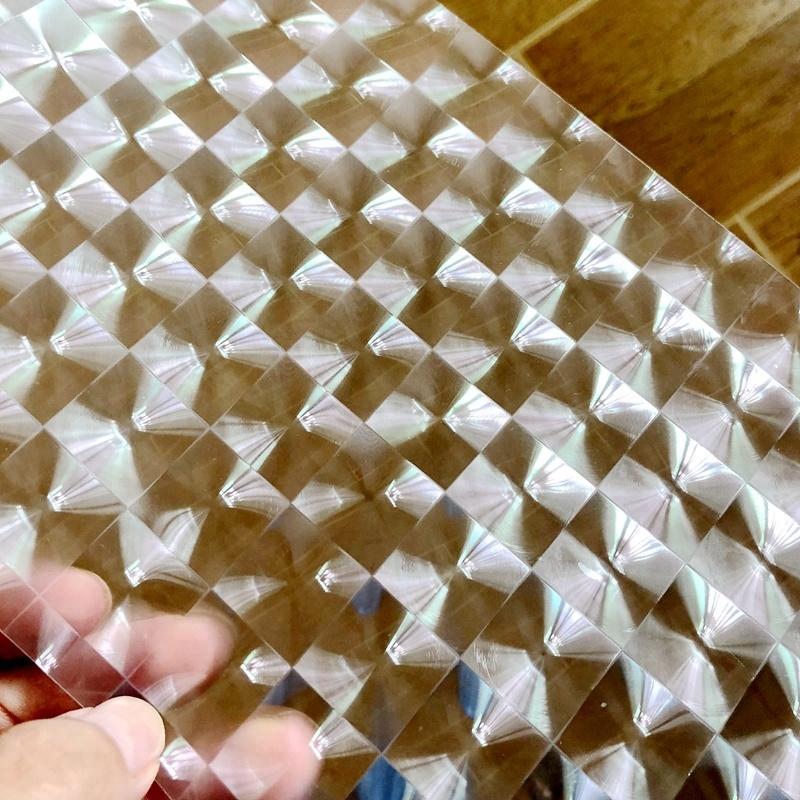 Auto-Adesivo Decoração de Embalagens De Plástico do BOPP Laminação <span class=keywords><strong>Laser</strong></span> 3D Multi Lente Filme de Vinil