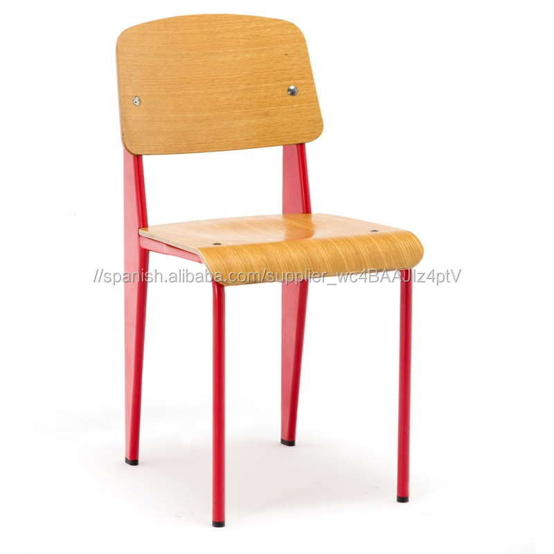 2019 Venta caliente comercial moderno marco de Metal de madera contrachapada Silla de comedor estudiante silla