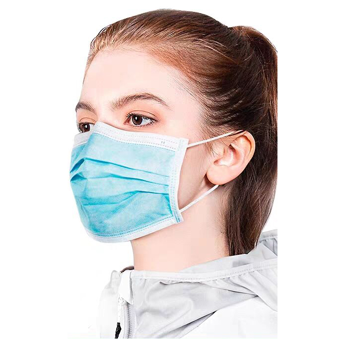 口鼻粉塵公害ウイルス保護フェイスマスク 3Ply イヤーループ使い捨てフェイス医療マスクメーカー