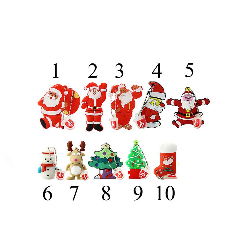 Nouveau Design Cadeau De Noël Personnalisé Pvc Clé Usb 2 Go 4 Go Silicone Carton Carte Mémoire 8 Go 16 go Oem Pvc Usb