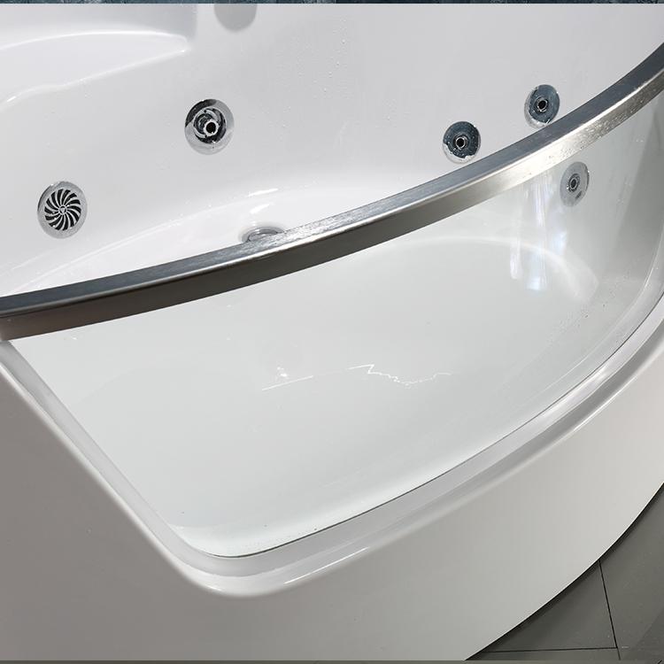 Proway bañera de masaje PR-8802 bañera de hierro fundido precio oval en forma de bañera de bebé con asiento
