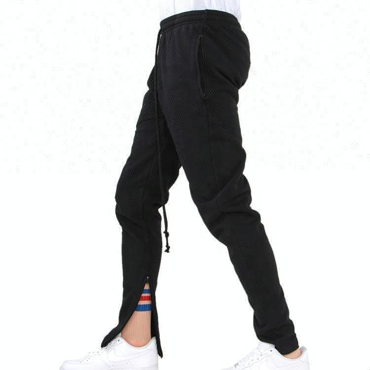 en blanco al por mayor en blanco Pantalones Slim Fit corredor hombre Tech pantalones de lana con el tobillo cremallera