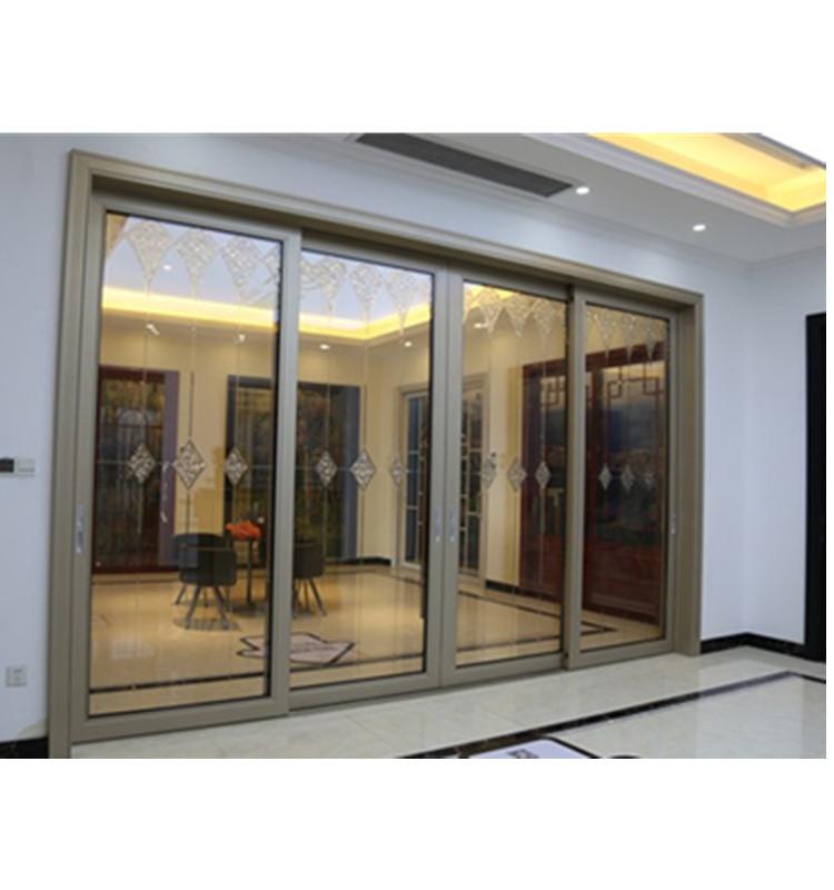 럭셔리 현대 스타일 전기 블라인드 유리 슬라이딩 게이트 좁은 프레임 알루미늄 슬라이딩 도어 호텔