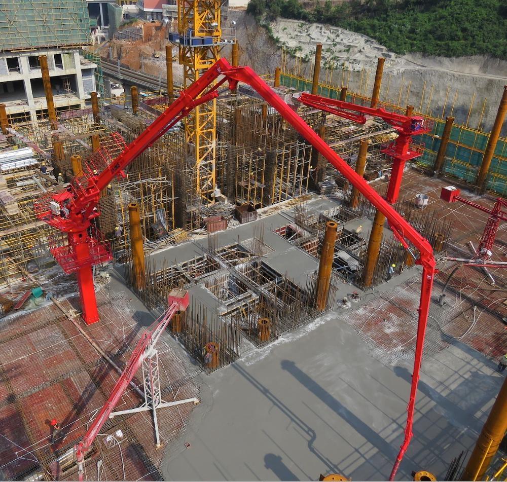 HGY32 32 32 м новейший дизайн прочный Стационарный Гидравлический бетон размещение бум
