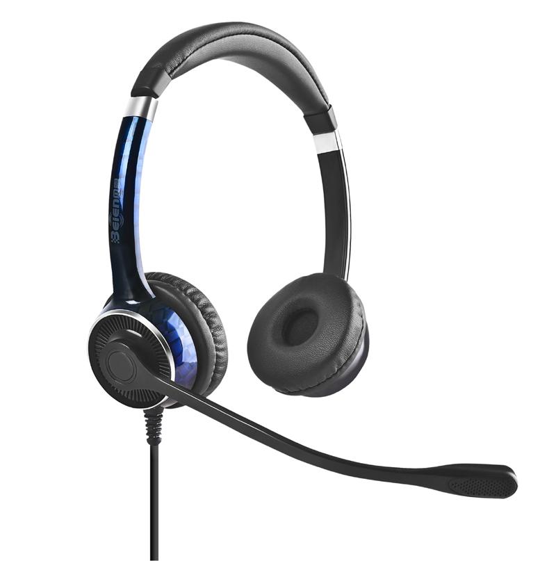 Centre d'appels antibruit casque téléphonique 2.5mm OEM personnalisé casque bandeau Confortable échantillon disponible