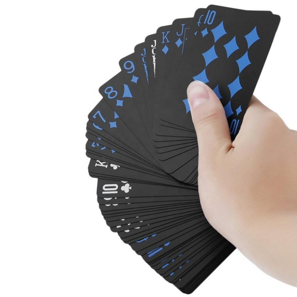 Профессиональный водонепроницаемый пользовательские черный Покер Игра <span class=keywords><strong>карты</strong></span>