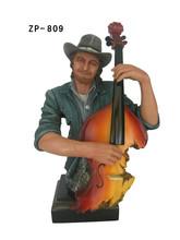 fabricado figura de violinista en resina
