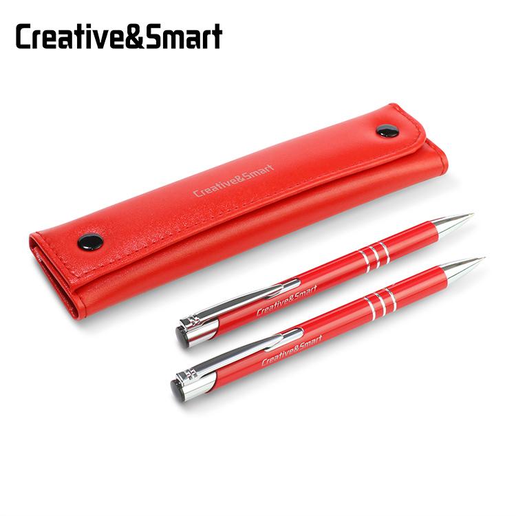 Sıcak satış 0.7mm kırmızı lüks ücretsiz örnek metal otomatik mekanik kalem