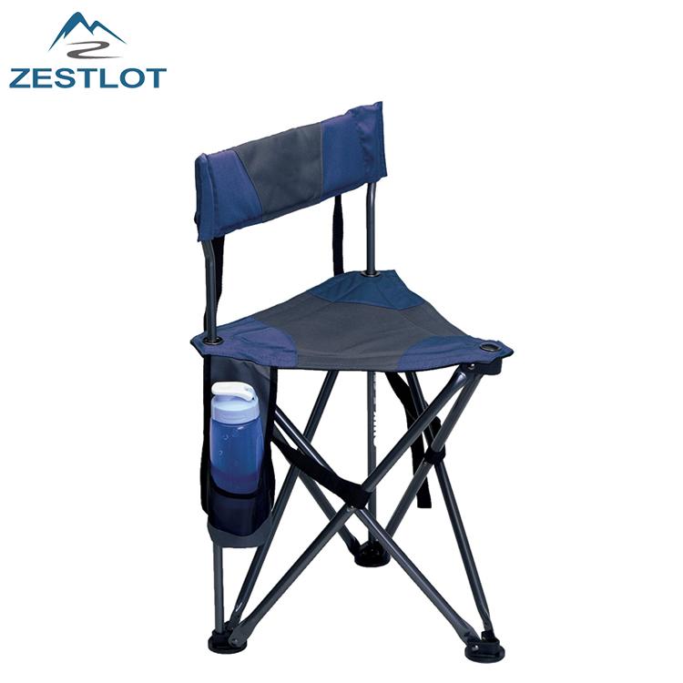Viaje al aire libre calidad Superior trípode plegable campo silla con respaldo