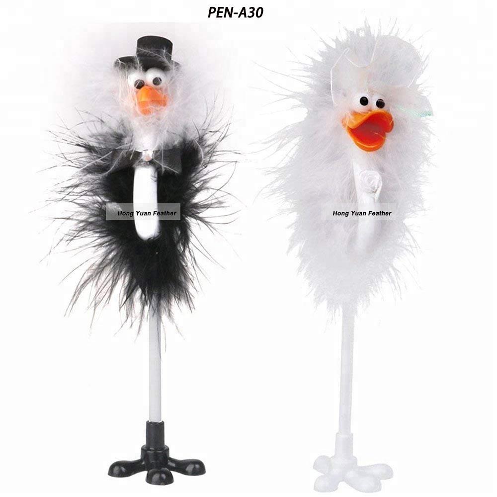 Packung 12 Stücke Nette Kühle Neuheit Form Quill Kugelschreiber Stift werbe-kugelschreiber mit federn für Kinder Geschenk