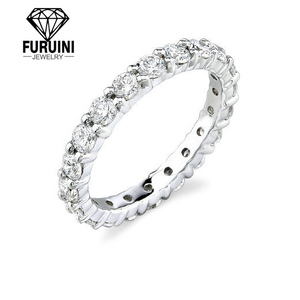 Einstellbare 925 lose sterling silber ring Runde & Prinzessin Cut Eternity CZ Ring