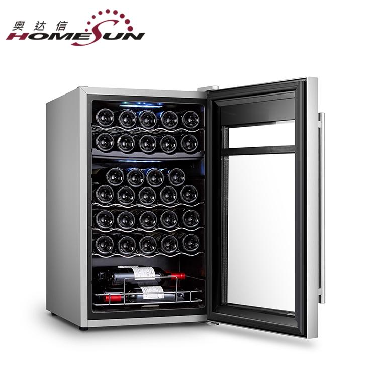 JC-98 de Dual Zone Wine Cooler Undercounter Índia, Geladeiras Refrigerador de Vinho fino